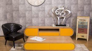 מזנון + שולחן מעוגל