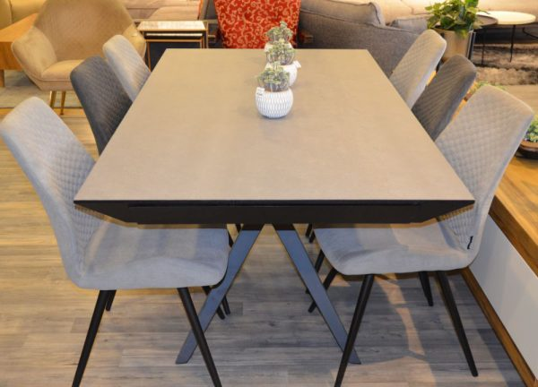 שולחן אוכל נפתח + 6 כיסאות